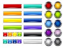 Positionnement de bouton Photographie stock libre de droits