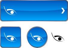 Positionnement de bouton d'oeil. Photographie stock libre de droits