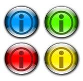Positionnement de bouton de l'information Illustration de Vecteur