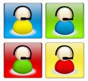 Positionnement de bouton de support technique Illustration Stock