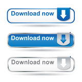 Positionnement de bouton de téléchargement Photos stock