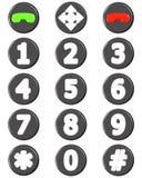 Positionnement de bouton de téléphone Photos stock