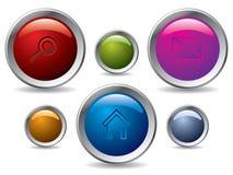 Positionnement de bouton de Web Images libres de droits