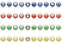 Positionnement de bouton de Web Photo libre de droits