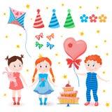 Positionnement de célébration Fête d'anniversaire Image libre de droits