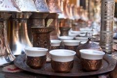 Positionnement de café bosnien Photos libres de droits