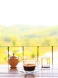 Positionnement de café dans la terrasse Photographie stock libre de droits