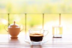 Positionnement de café dans la terrasse Images libres de droits