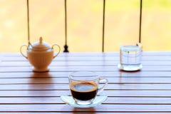 Positionnement de café dans la terrasse Photographie stock