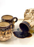 Positionnement de café en céramique Photos libres de droits