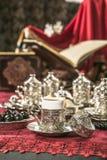 Positionnement de café turc Images stock