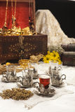Positionnement de café turc Image stock