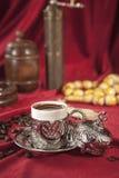 Positionnement de café turc Image libre de droits