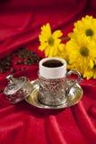 Positionnement de café turc Photo libre de droits