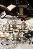 Positionnement de café turc Photo stock