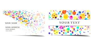 Positionnement de carte de visite professionnelle de visite illustration stock