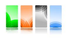 Positionnement de carte de visite professionnelle de visite de vecteur Photo stock