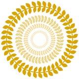 Positionnement de cercle de guirlande de laurier d'or illustration libre de droits
