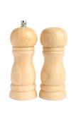 Positionnement de choc de sel et de poivre Image libre de droits