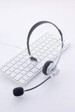 Positionnement de clavier et de tête Photo libre de droits