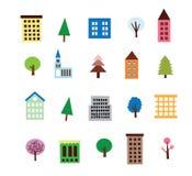 Positionnement de construction et d'arbre Photo stock