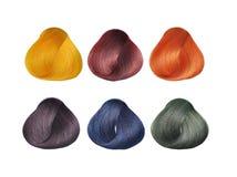 Positionnement de couleurs de cheveu. Photo libre de droits
