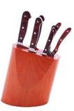 Positionnement de couteau photo stock