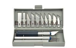 Positionnement de couteau d'Exacto Photographie stock libre de droits
