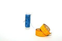 Positionnement de couture : Amorçage et bande de mesure Images libres de droits
