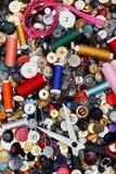 Positionnement de couture, amorçage, pointeau, ciseaux, Photographie stock libre de droits