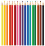 positionnement de crayon de couleur Photo libre de droits