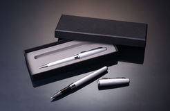 Positionnement de crayon lecteur Photo stock