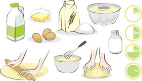 Positionnement de cuisson Images libres de droits