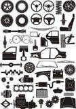 Positionnement de détail de véhicule Images libres de droits