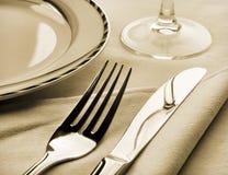 Positionnement de dîner photographie stock libre de droits