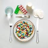 Positionnement de dîner médical image stock
