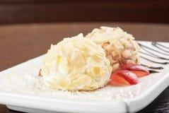 Positionnement de dessert Image stock