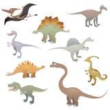 Positionnement de dinosaur illustration stock