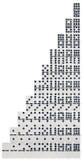 Positionnement de domino Photographie stock