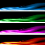 Positionnement de drapeau d'énergie de plasma illustration libre de droits