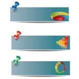 Positionnement de drapeau d'affaires Image libre de droits