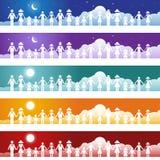 Positionnement de drapeau de famille Images libres de droits