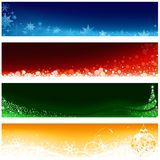 Positionnement de drapeau de Noël Image libre de droits