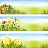 Positionnement de drapeau de Pâques Photographie stock libre de droits