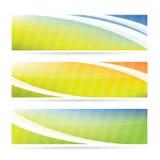 Positionnement de drapeau de source Photographie stock libre de droits