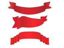 Positionnement de drapeau de vecteur Photos libres de droits