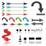 Positionnement de flèche Illustration Stock