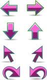 Positionnement de flèche illustration de vecteur