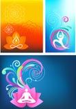 Positionnement de fond de yoga Image stock