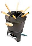Positionnement de fondue de fer de moulage Photos stock